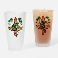 Easy Living Lizard Drinking Glass