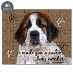 St Bernard Puppy Cookie Puzzle