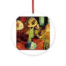 Paris Hat Shop, Degas Ornament (Round)