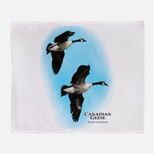 Canadian Geese Throw Blanket