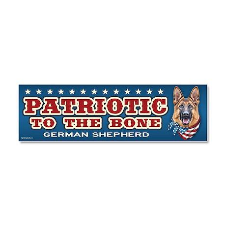 Patriotic - German Shepherd Car Magnet 10 x 3