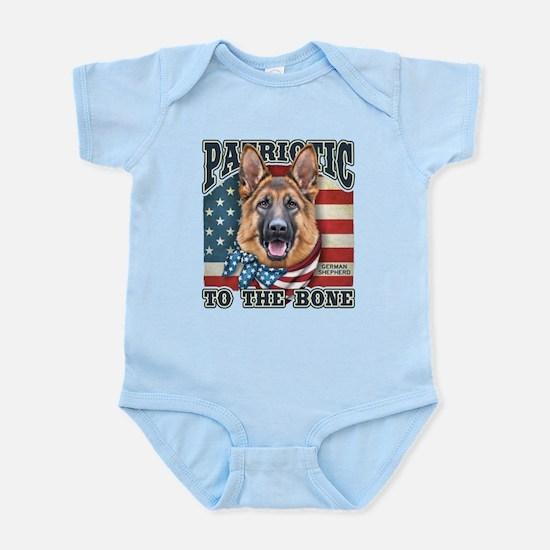 Patriotic - German Shepherd Infant Bodysuit