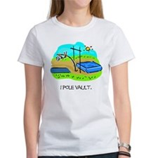 Pole Vault Stick Man Tee