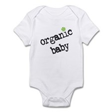 Organic Baby Green Flower Infant Creeper