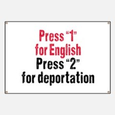 Press 1 for English Banner