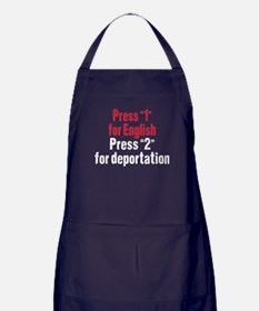 Press 1 for English Apron (dark)