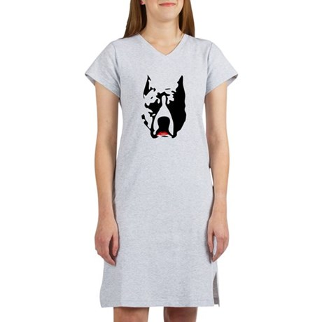 Pit Bull with L Women's Nightshirt
