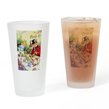 ALICE & THE MAD HATTER Drinking Glass