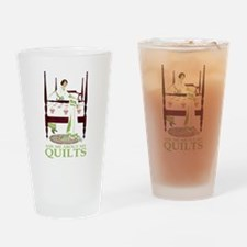 ASK ME ABOUT MY QUILTS! Drinking Glass