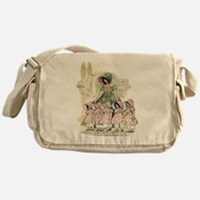FIVE PRETTY MAIDS IN A ROW Messenger Bag