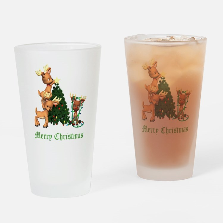 A VERY DEER CHRISTMAS Drinking Glass