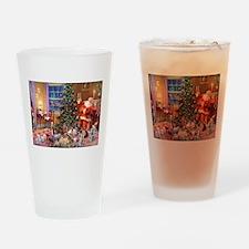 SANTA CLAUS ON CHRISTMAS EVE Drinking Glass
