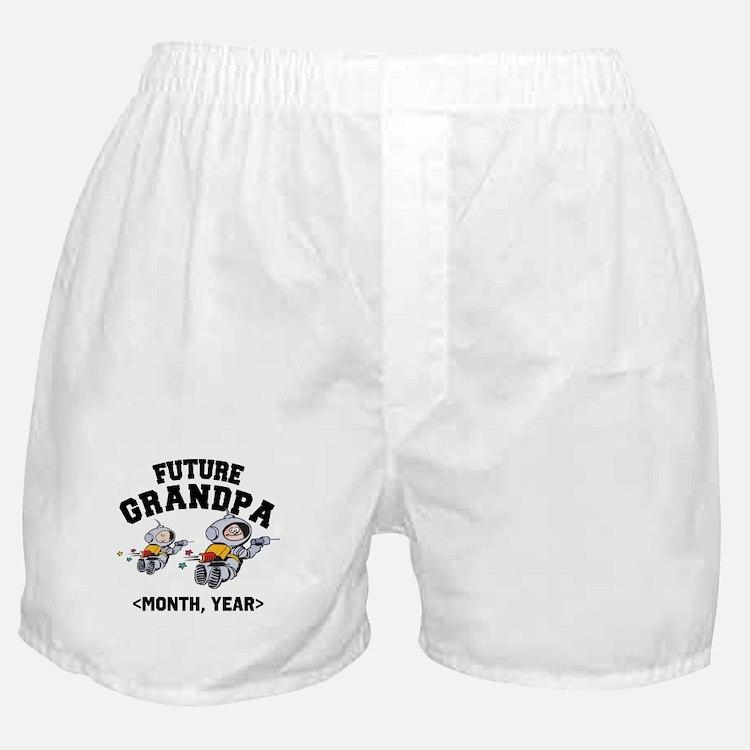 Personalized Future Grandpa Boxer Shorts