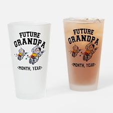 Personalized Future Grandpa Drinking Glass