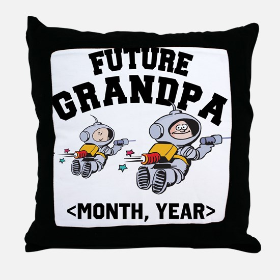 Personalized Future Grandpa Throw Pillow