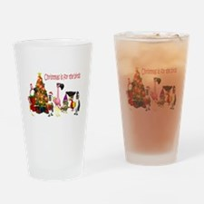 CHRISTMAS IS FOR THE BIRDS Drinking Glass