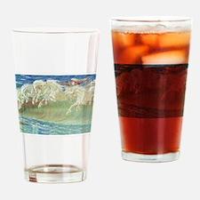 NEPTUNE'S HORSES Drinking Glass