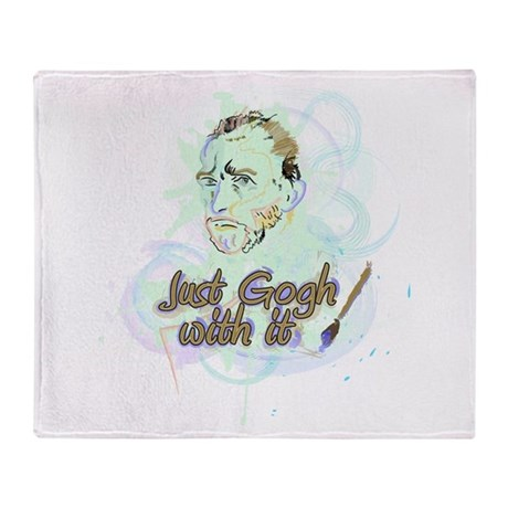 Just Gogh With It! Throw Blanket