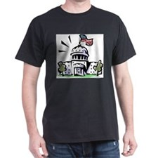 USA1 Black T-Shirt