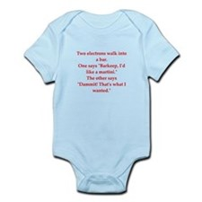 funny physics joke Infant Bodysuit