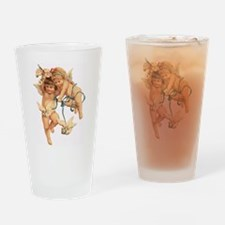 CHERUBS & DOVES Drinking Glass