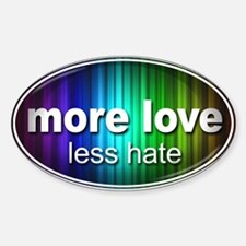 More Love, Less Hate - Decal