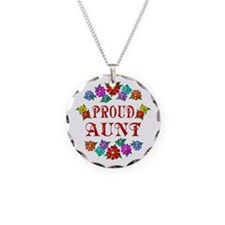 Proud Aunt Necklace Circle Charm