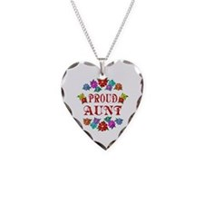 Proud Aunt Necklace Heart Charm