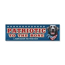 Patriotic - Black Lab Car Magnet 10 x 3