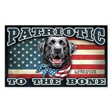 Patriotic - Black Lab Decal