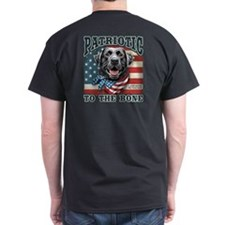 Patriotic - Black Lab T-Shirt