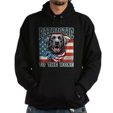 Patriotic - Black Lab Hoody