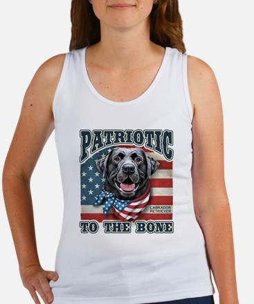 Patriotic - Black Lab Women's Tank Top