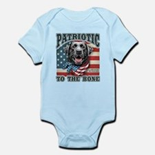Patriotic - Black Lab Infant Bodysuit