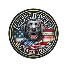 "Patriotic - Black Lab 3.5"" Button (100 pack)"