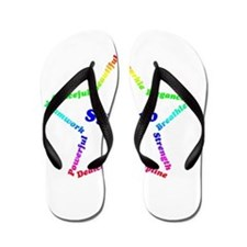 Funny Synchro swimming Flip Flops