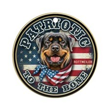 Patriotic - Rottweiler Ornament (Round)