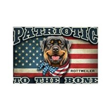 Patriotic - Rottweiler Rectangle Magnet