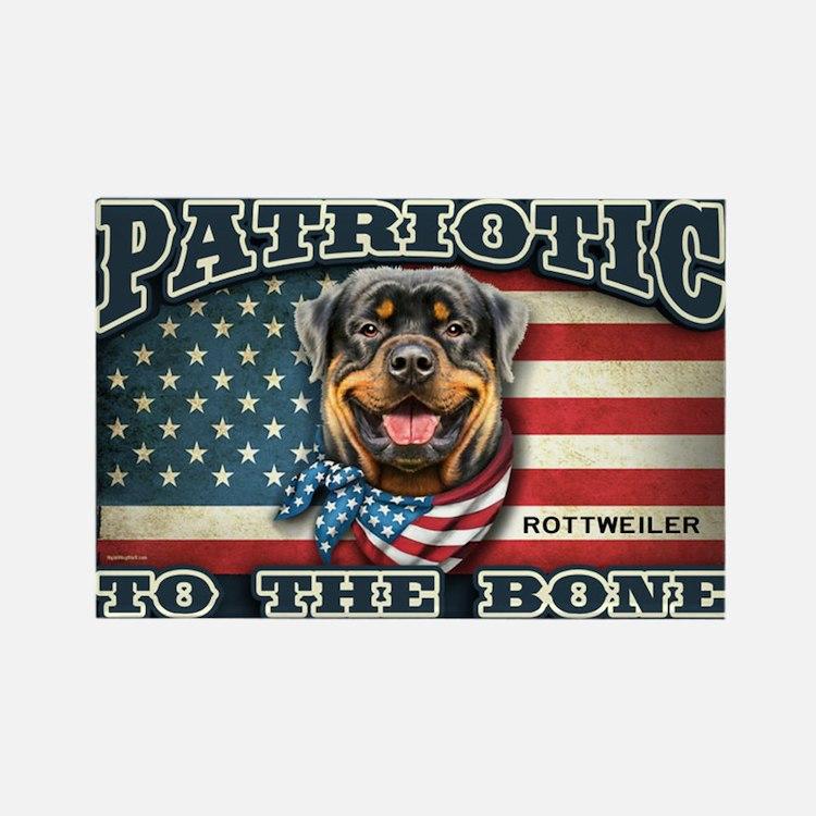Patriotic - Rottweiler Rectangle Magnet