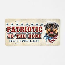 Patriotic - Rottweiler Aluminum License Plate
