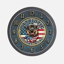 Patriotic - Rottweiler Wall Clock
