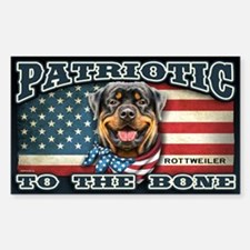 Patriotic - Rottweiler Decal