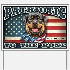 Patriotic - Rottweiler Yard Sign
