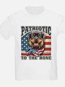 Patriotic - Rottweiler T-Shirt