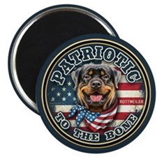 "Patriotic - Rottweiler 2.25"" Magnet (10 pack)"
