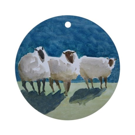 3sheep Ornament (round)