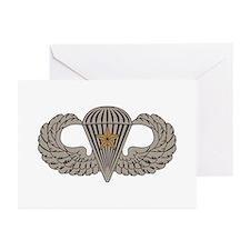 Combat Parachutist 1st awd basic Greeting Cards (P