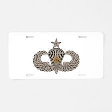 Combat Parachutist 1st awd Sr. Aluminum License Pl