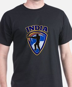 cricket batsman India T-Shirt