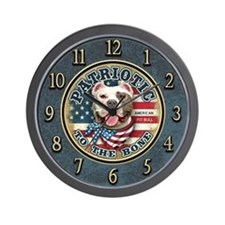 Patriotic - Pit Bull Wall Clock
